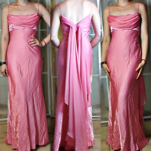 Night Way Collections Dresses & Skirts - VINTAGE Pink Formal Dress night way collection